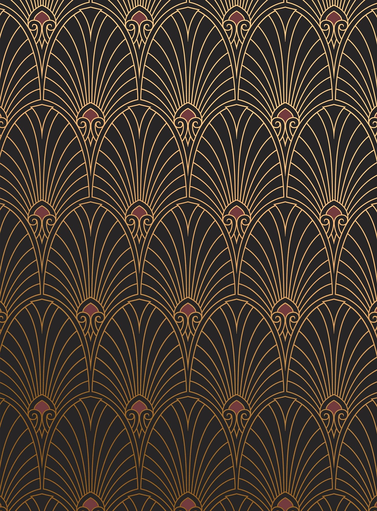 Beautiful Art Nouveau Wall Art Of Art Deco Wallpaper ·①