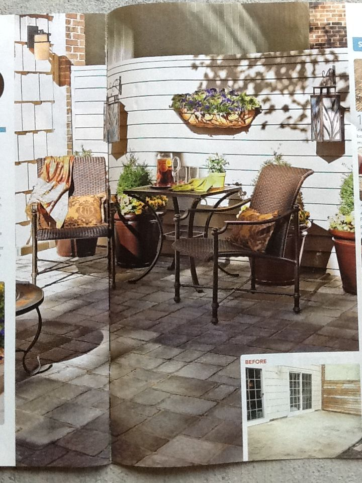 Nice patio from Lowe's Creative Ideas Spring 2011