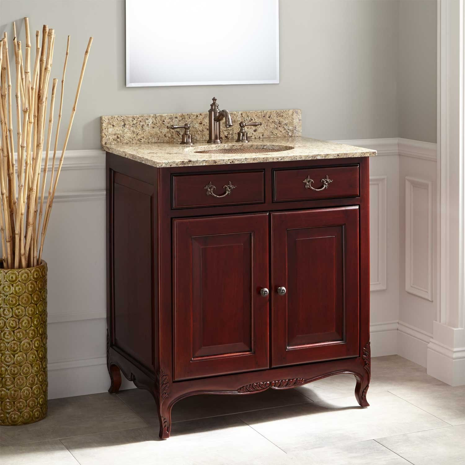 30 singleton mahogany vanity for undermount sink light on replacement countertops for bathroom vanity id=74246