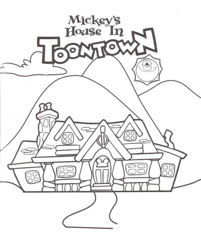 Mickeys House At Toontown Fair Disney Coloring PagesColoring