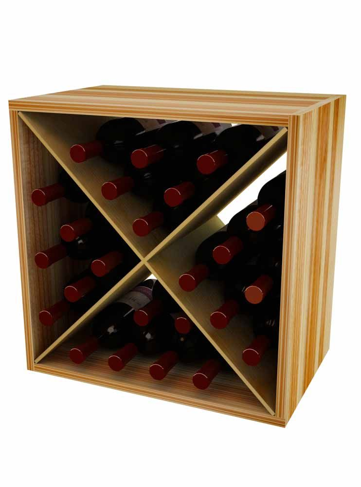 This Wooden Cubes Holds 12 Or 24 Wine Bottles And Is Shallow Depth