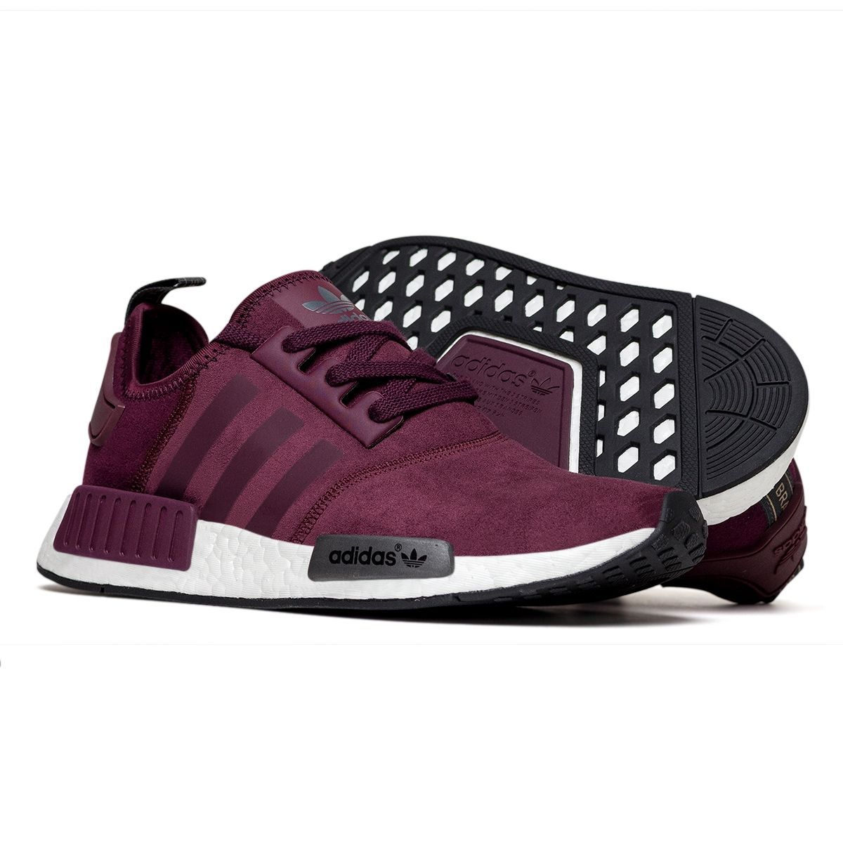 76cab0d10 Adidas NMD Runner Feminino Burgundy | Styling tips | Adidas shoes ...