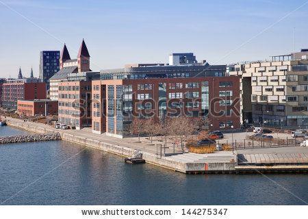 In the port city of Copenhagen - stock photo