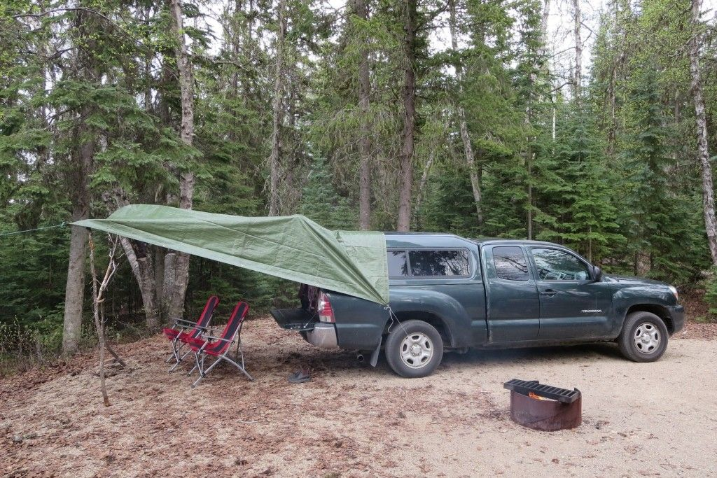 Rain Shelter for Truck Living Truck bed camping, Truck