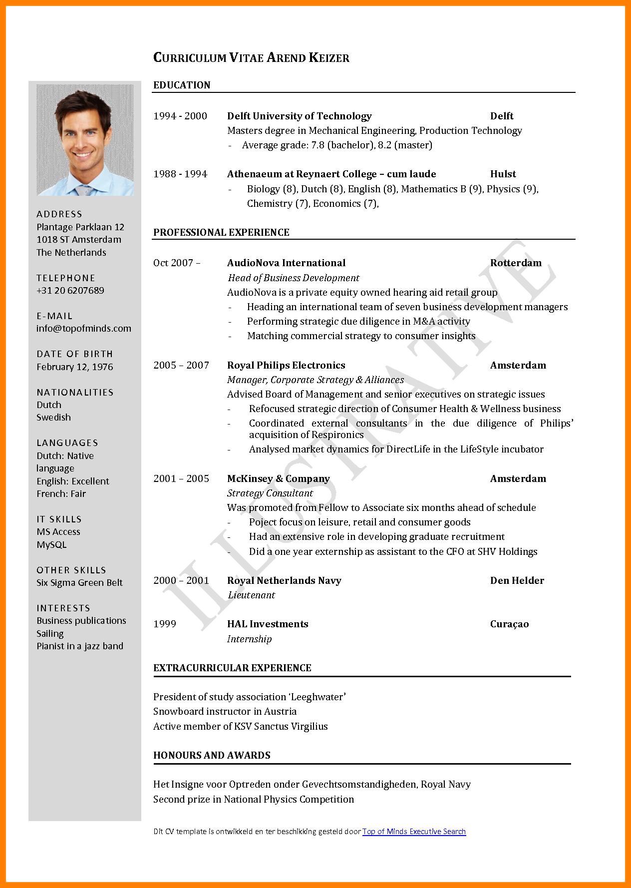 Cv Template Job Application Application Cvtemplate Template