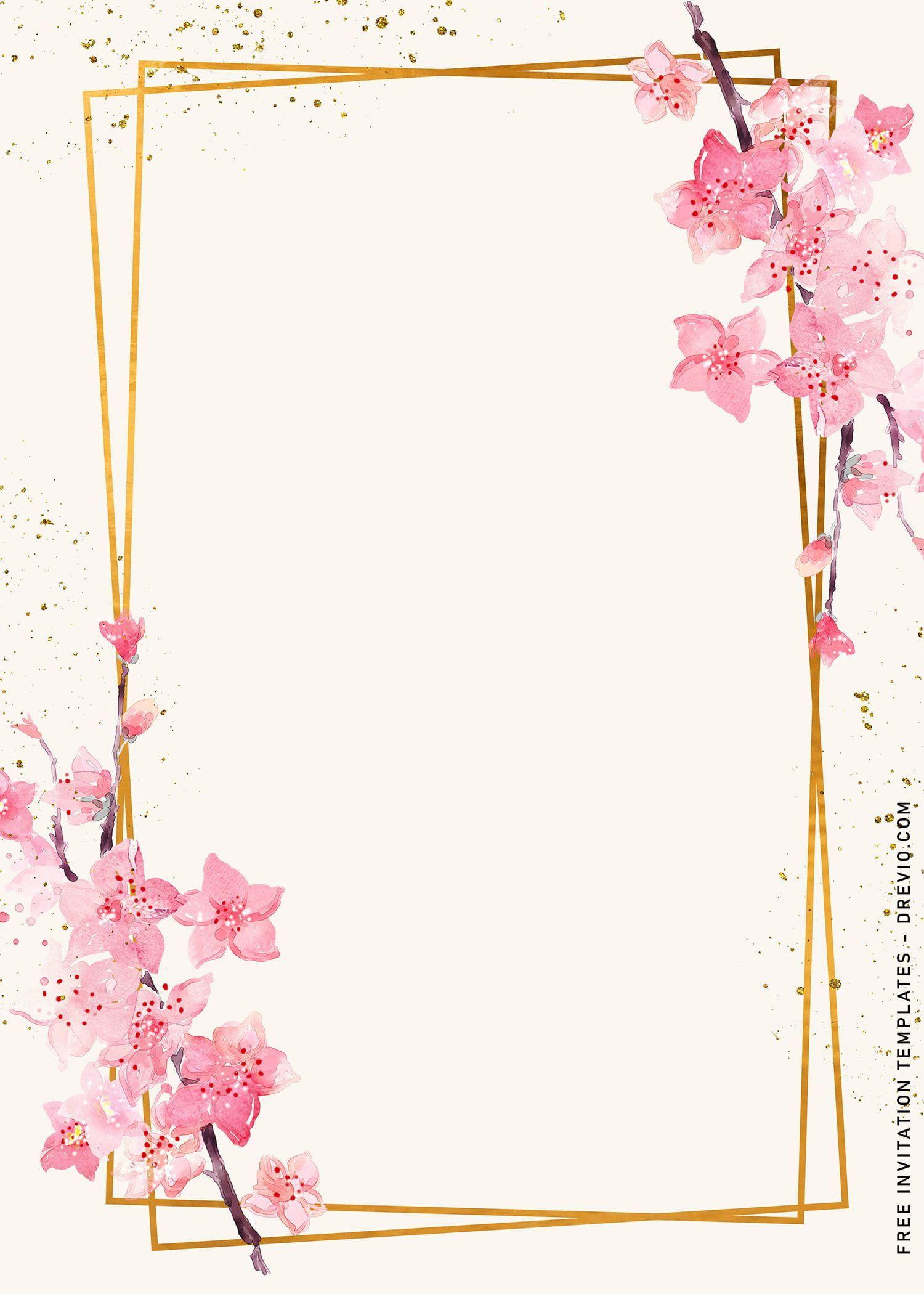 9+ Floral Geometric Birthday Invitation Templates