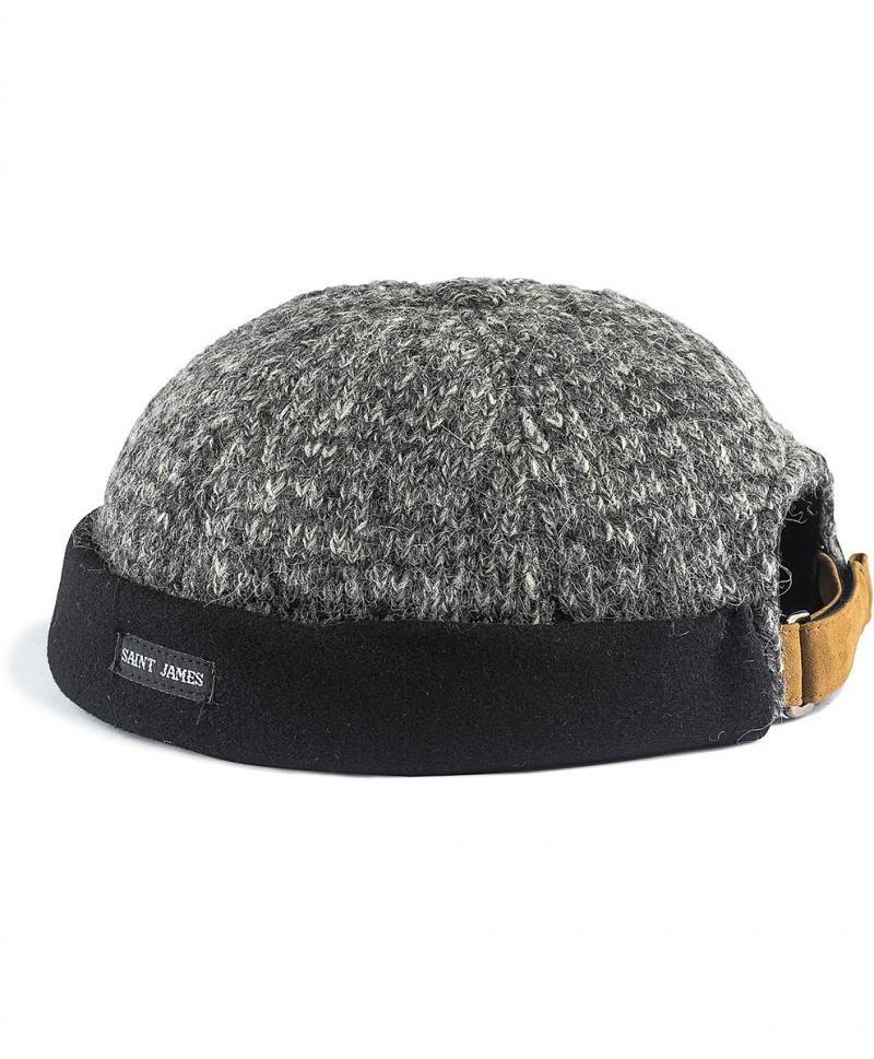 6476f5a83c02 MIKI D HIVER bonnet homme en tricot Saint James Boutique Le Matelot cabans  marinières pulls marins