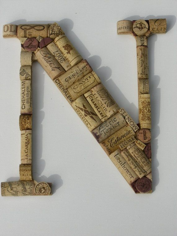 Handcrafted Custom Wine Cork Letter  by TheCorkAndBottle,  - I think you could make a K or C -- Or A or P!
