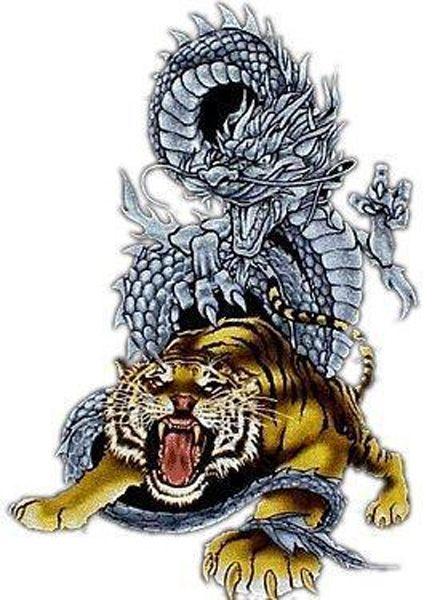 Tiger Tattoo 8 Tattoos For Men Tattoo Designs And Ideas Dragon Tiger Tattoo Tiger Tattoo Martial Arts Tattoos