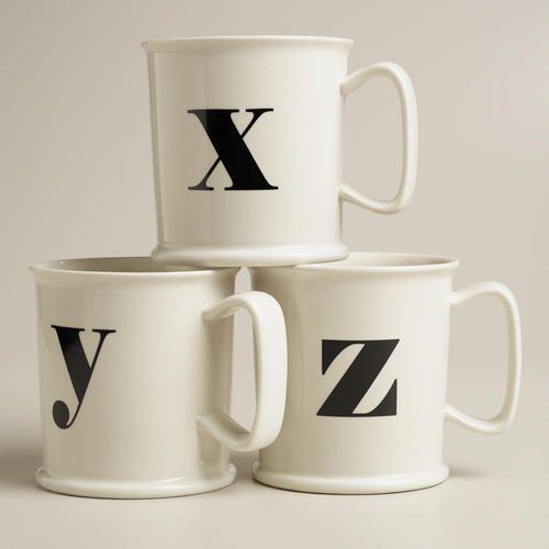 Monogram Tankard Mugs At Cost Plus World Market >>