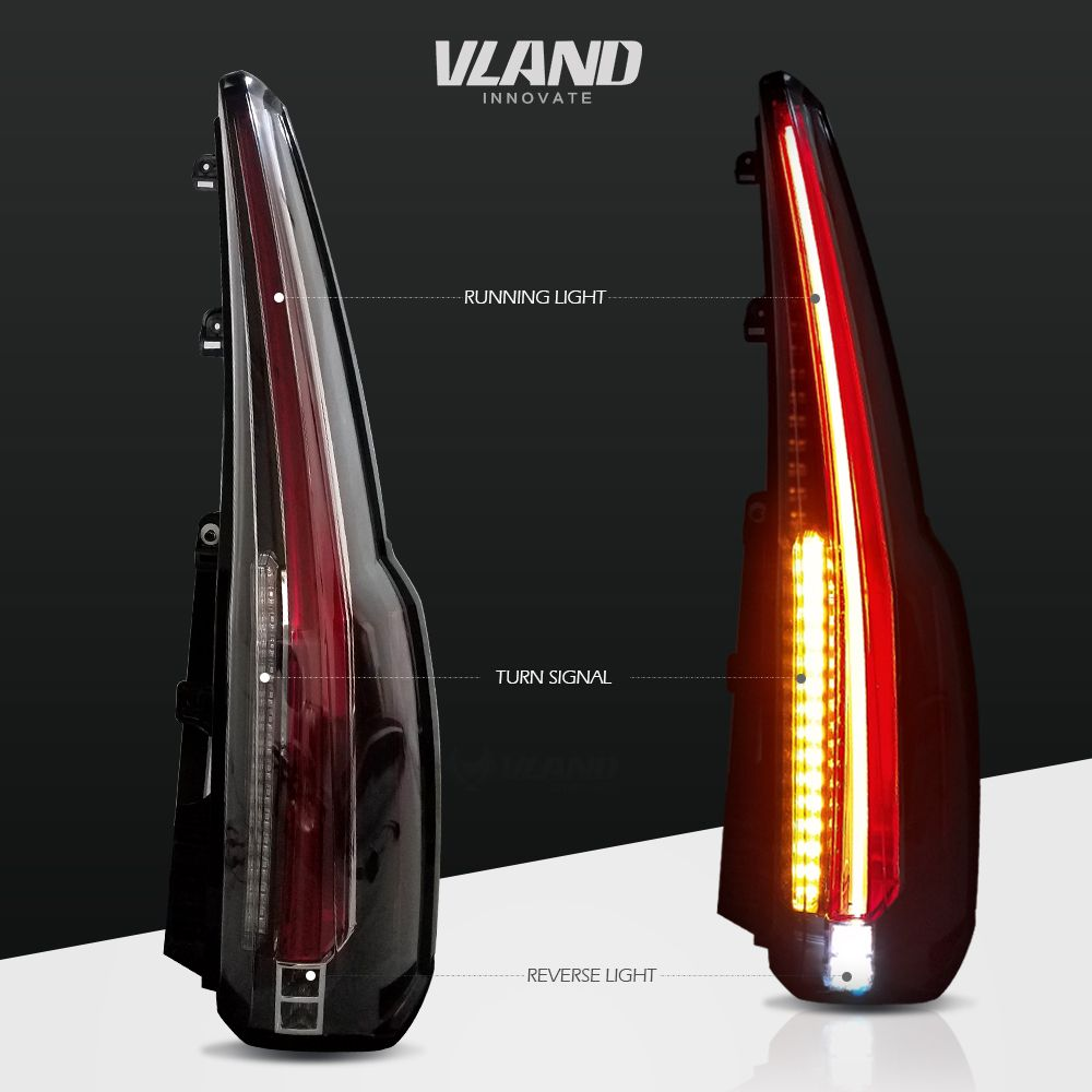 All New Style For Gmc Yukon Led Tail Lights 2015 2017 Rear Lamp Vland Gmcyukontaillight Gmcyukontaillights Tahoetaillight Ta Led Tail Lights Gmc Yukon Gmc