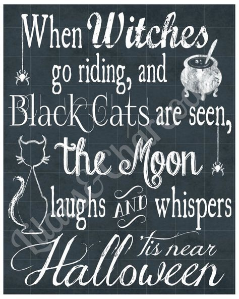 When Witches Go Riding And Black Cats Are Seen, The Moon