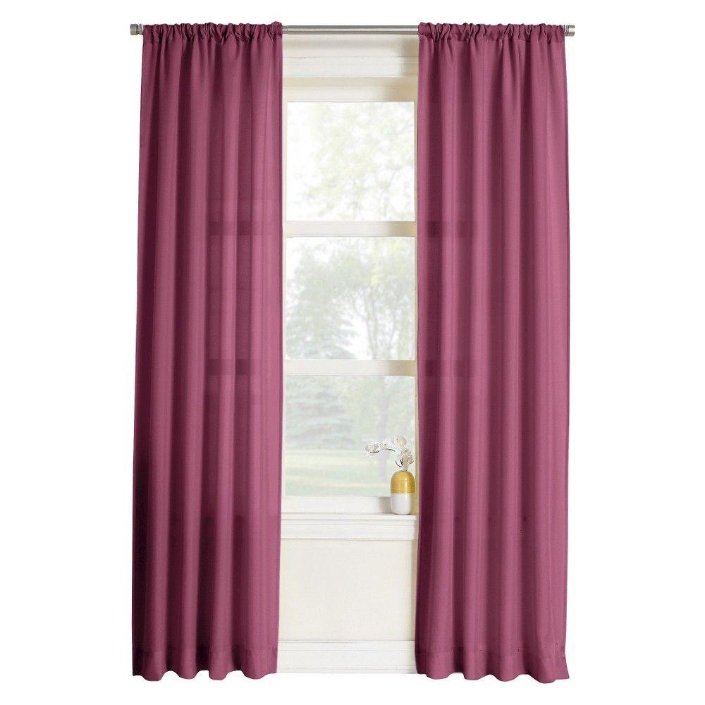Maeve Heathered Print Curtain Panel Berry Pink 40x Panel Curtains Solid Curtains Curtains