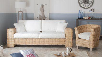 salon bord de mer meuble rotin inspiration deco oleron idees pour la
