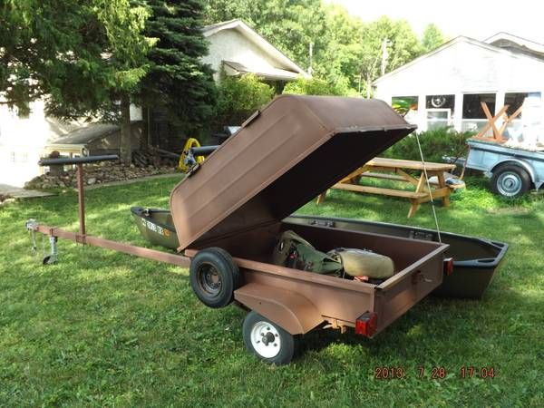 Canoe trailer found on craigslist seller called it a for Fishing equipment for sale on craigslist