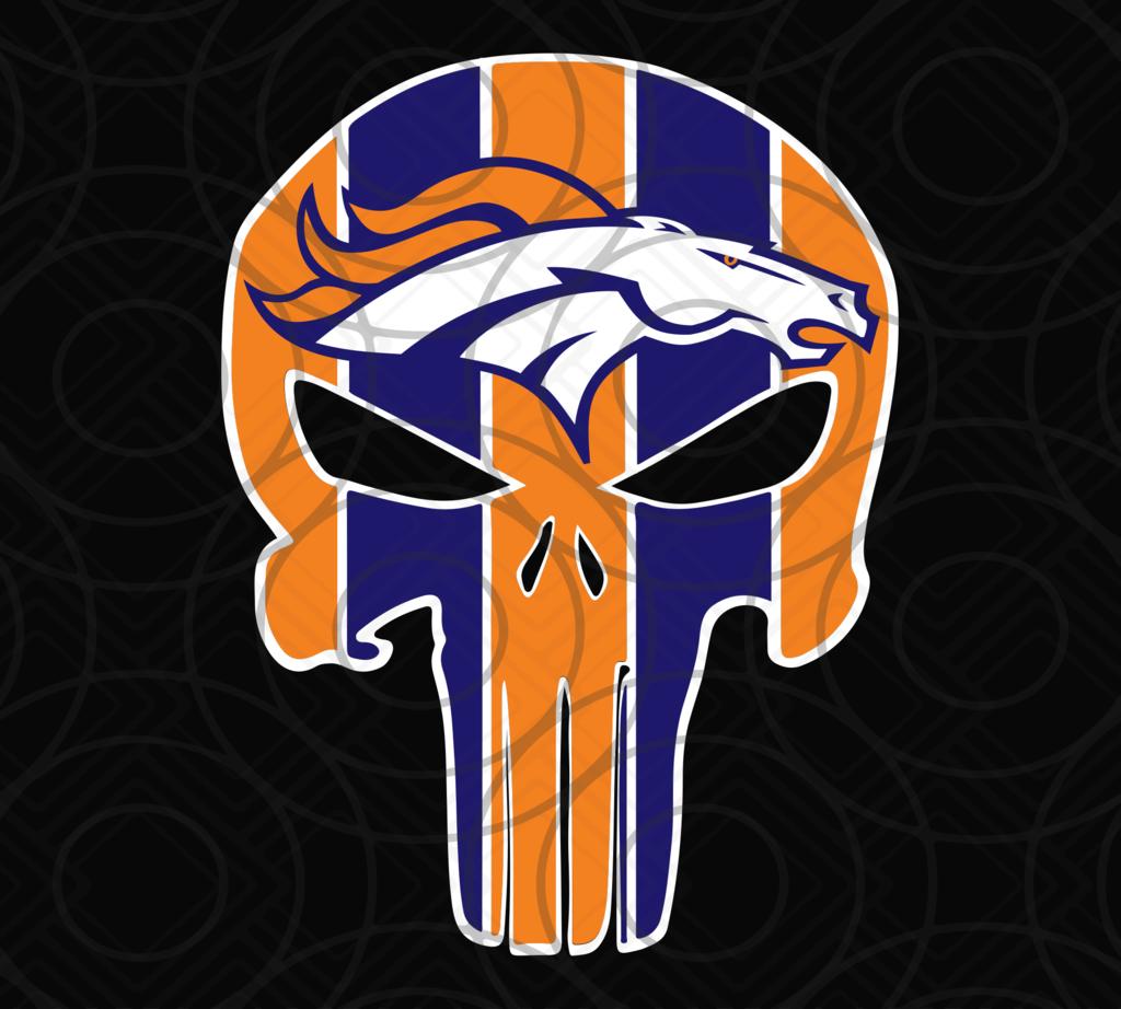 Denver Broncos, Denver Broncos svg, Punisher Broncos svg