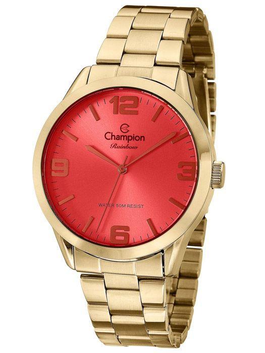 0925e03bf5d Relógio Champion Rainbow Vermelho Feminino CN29892C