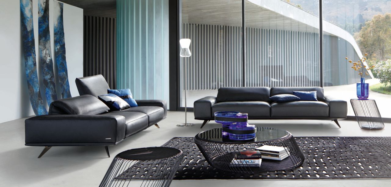 habill de cuir taormina vachette fleur rectifi e pigment e dossiers relevables coussins d. Black Bedroom Furniture Sets. Home Design Ideas
