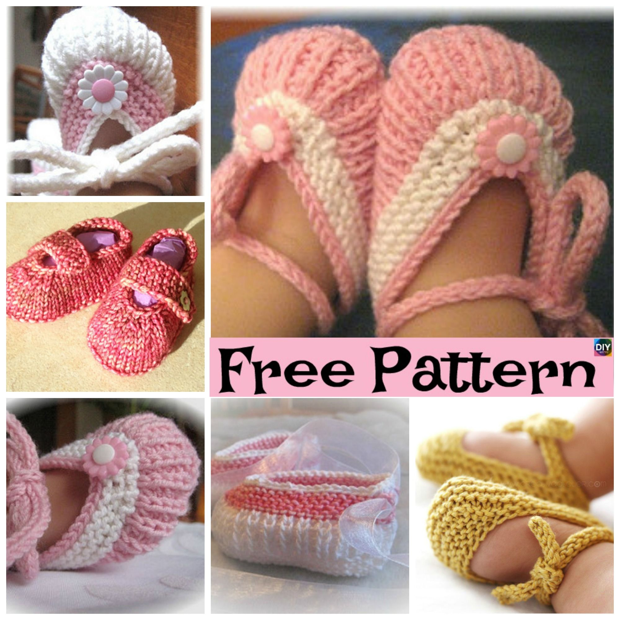 Adorable Knitted Baby Ballerina Booties Free Patterns Brei