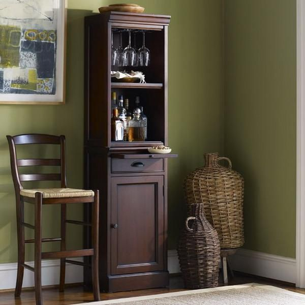 25 Mini Home Bar And Portable Designs Offering Convenient E Saving Ideas Link Doesn T Say Where To But I Love This Little Cabinet Shown In The