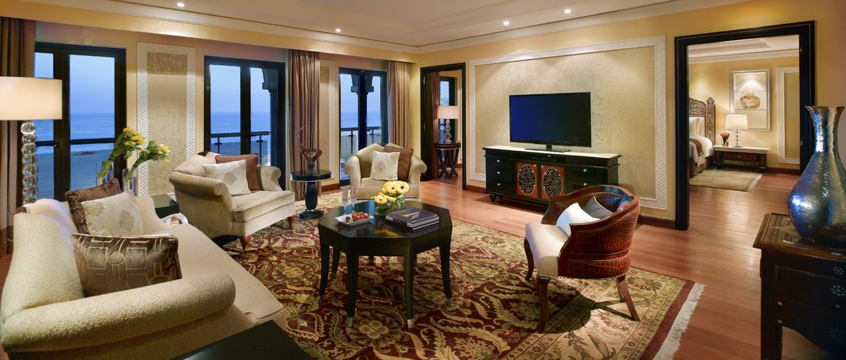 Discover Beauty As The Presidential Suite At Al Bustan Palace Muscat Promises Comfort With Panoramic Views O Ritz Carlton Hotel Top Luxury Hotels Luxury Hotel