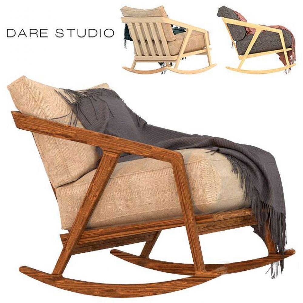 Dare Studio Katakana Rocking Armchair 3D Model (With