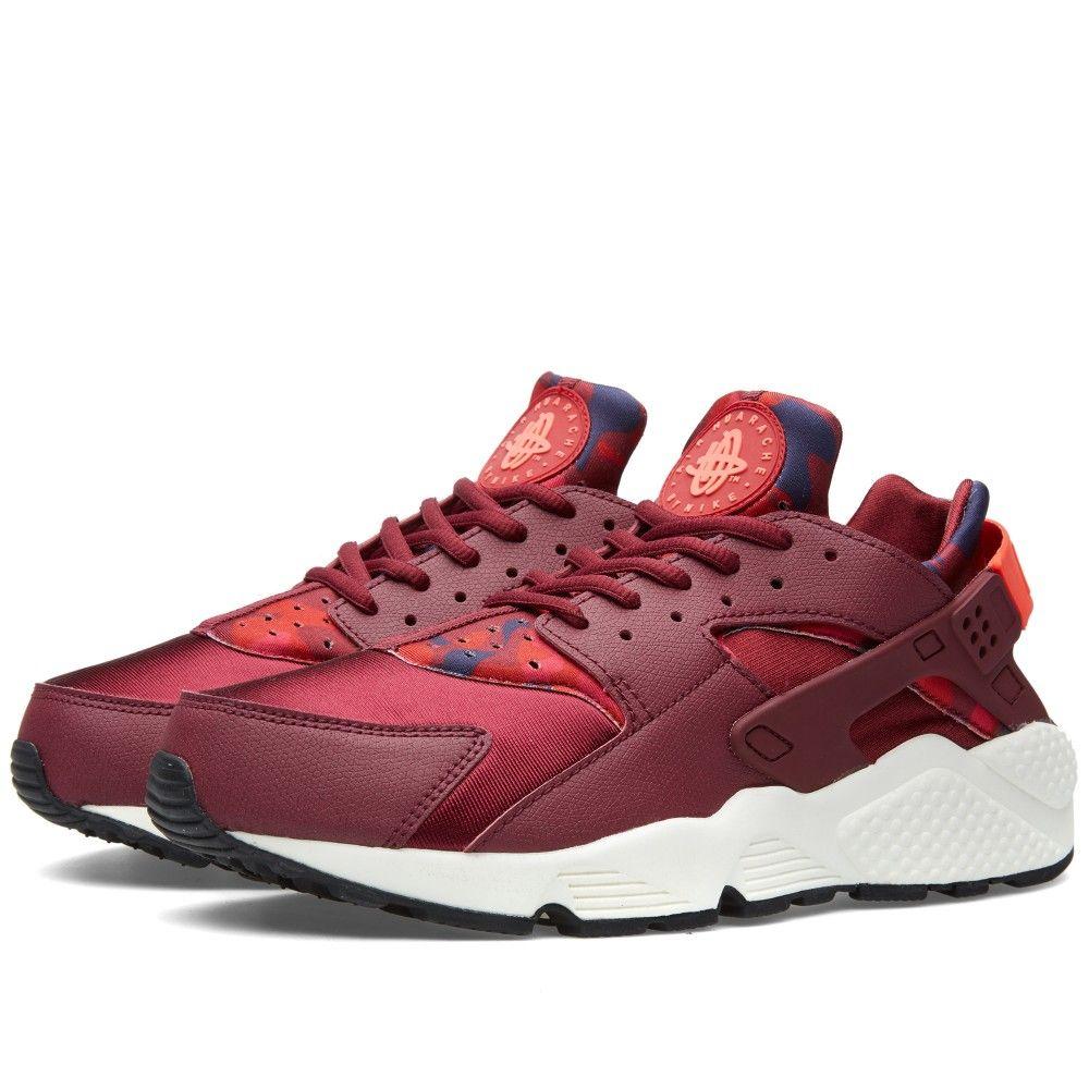 f8afb6167fe Nike W Air Huarache Run Print (Deep Garnet   Bright Crimson)
