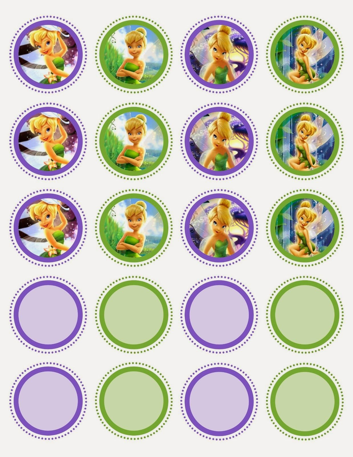 Free Printable Fairy Party Decorations Cupcake Toppers