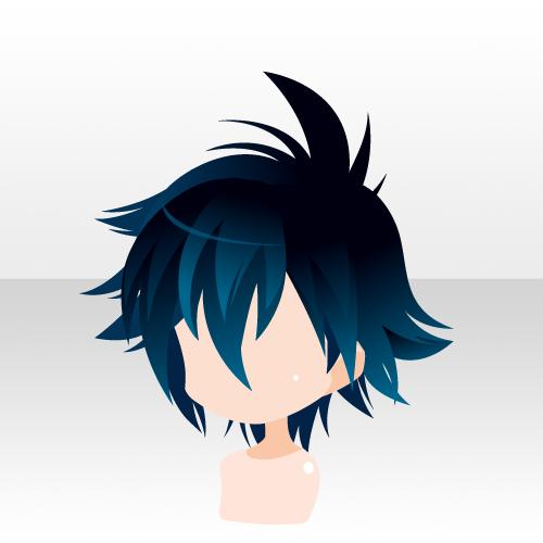 More anime hair Chibi hair
