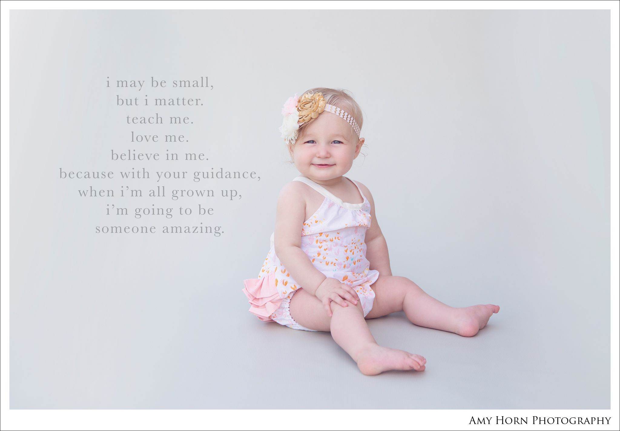8 Month Old Baby Photography In Romper Baby Quote My Photography