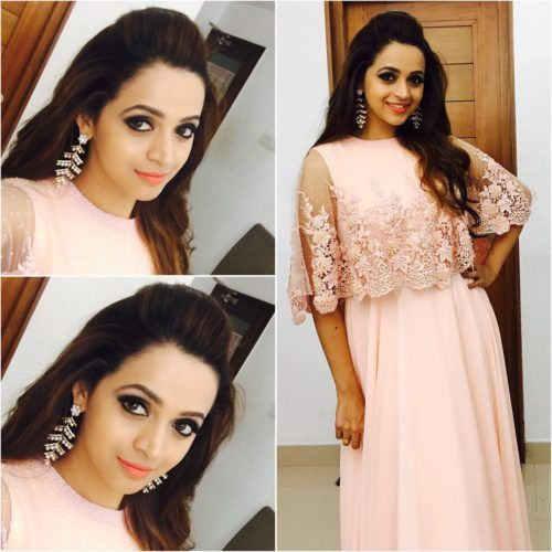Kerala Party Hairstyles: Malayali Actress Bhavana With Puff Hairstyle