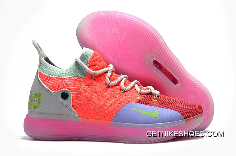 fb63bfcc1b08 Used Basketball Court Flooring For Sale. Men s Nike KD 11 Bright  Crimson Orange Wolf Grey Chlorine Blue Pink Free Shipping Big Deals