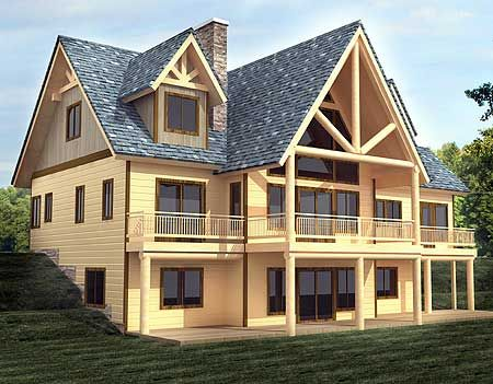 Plan 35439gh majestic mountain home plan rustic house for Rustic house plans with basement