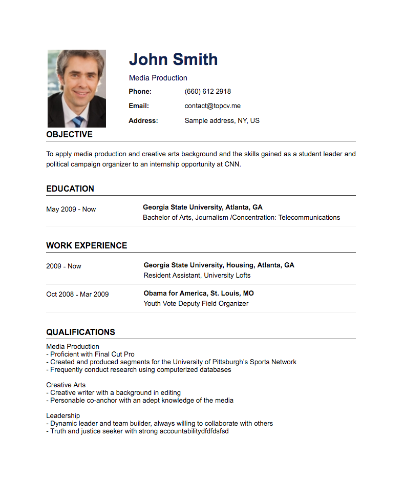 Standard CV Template Create a resume, How to make resume