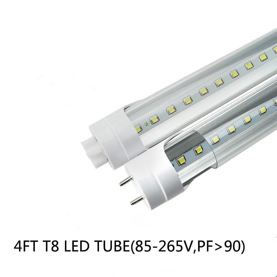 28W 4FT LED Tube Light Bulbs G13 Bi-Pin 3000LM 5000K//6500K Flat Shop lighting