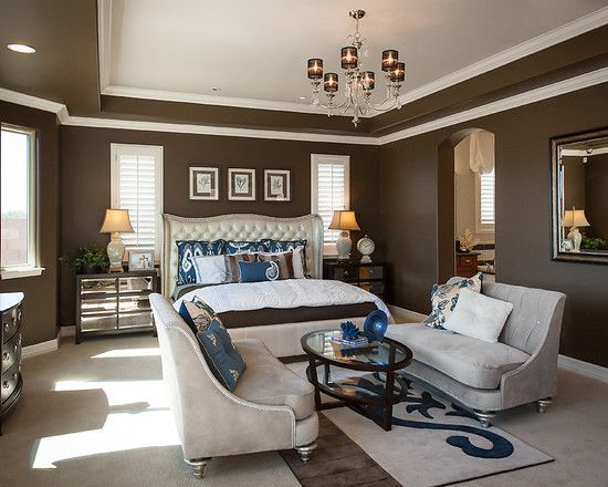 Elegance dark brown paint colors eclectic bedroom deep Dark brown walls bedroom