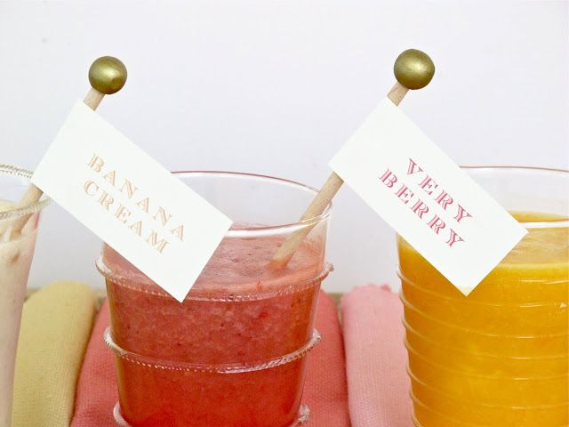 Jenny Steffens Hobick: Free Printables for Smoothies | Shower Brunch Decorating & Menu Ideas