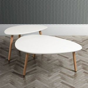 Hackney White Oak Mid Century Coffee Table I Love Retro Inspired