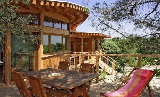 terrasse-bois-maison-bois-bioclimatique-archenvironnement - construction d une terrasse bois