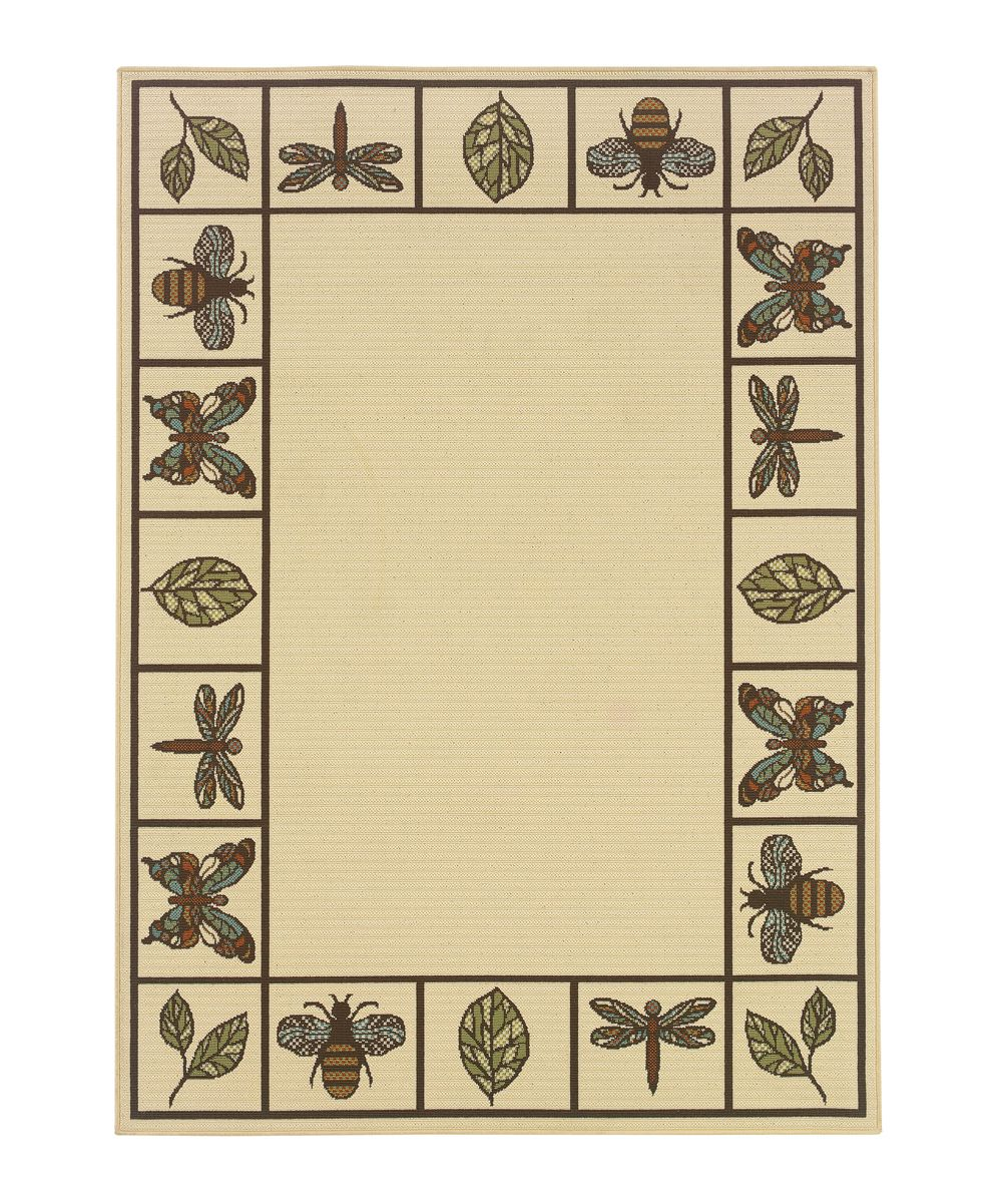 Ivory Bee Amp Dragonfly Jamaica Outdoor Rug Might Be Able
