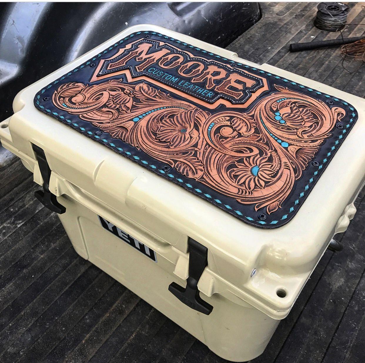 tooling  toolingleather  tooledleather  leatherwork  western  rodeo yeti  tooled leather yeti cooler 0c26e3fac50e