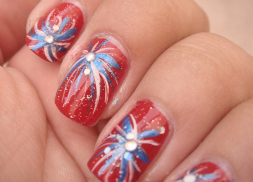 A bunch of patriotic nail designs - A Bunch Of Patriotic Nail Designs 4th Of July Nails Pinterest