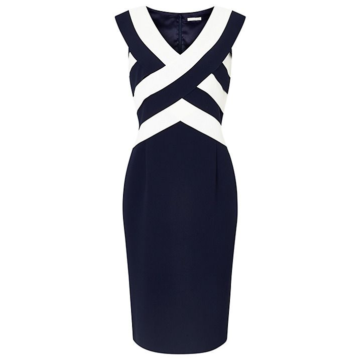 Buy Jacques Vert Panel Layered Shift Dress Navymulti 8 Online At