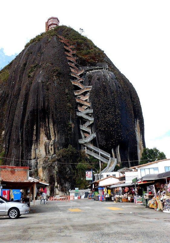 La Piedra Del Penol Near Guatape Colombia Steps To The Top - A step up in amazing architecture la