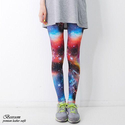 NEW Women rare rainbow colorful galaxy pants space leggings shorts tights S-L @Kaitlyn Flaherty AHAHAHAHAHA