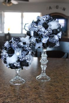 Black And Silver Wedding Party