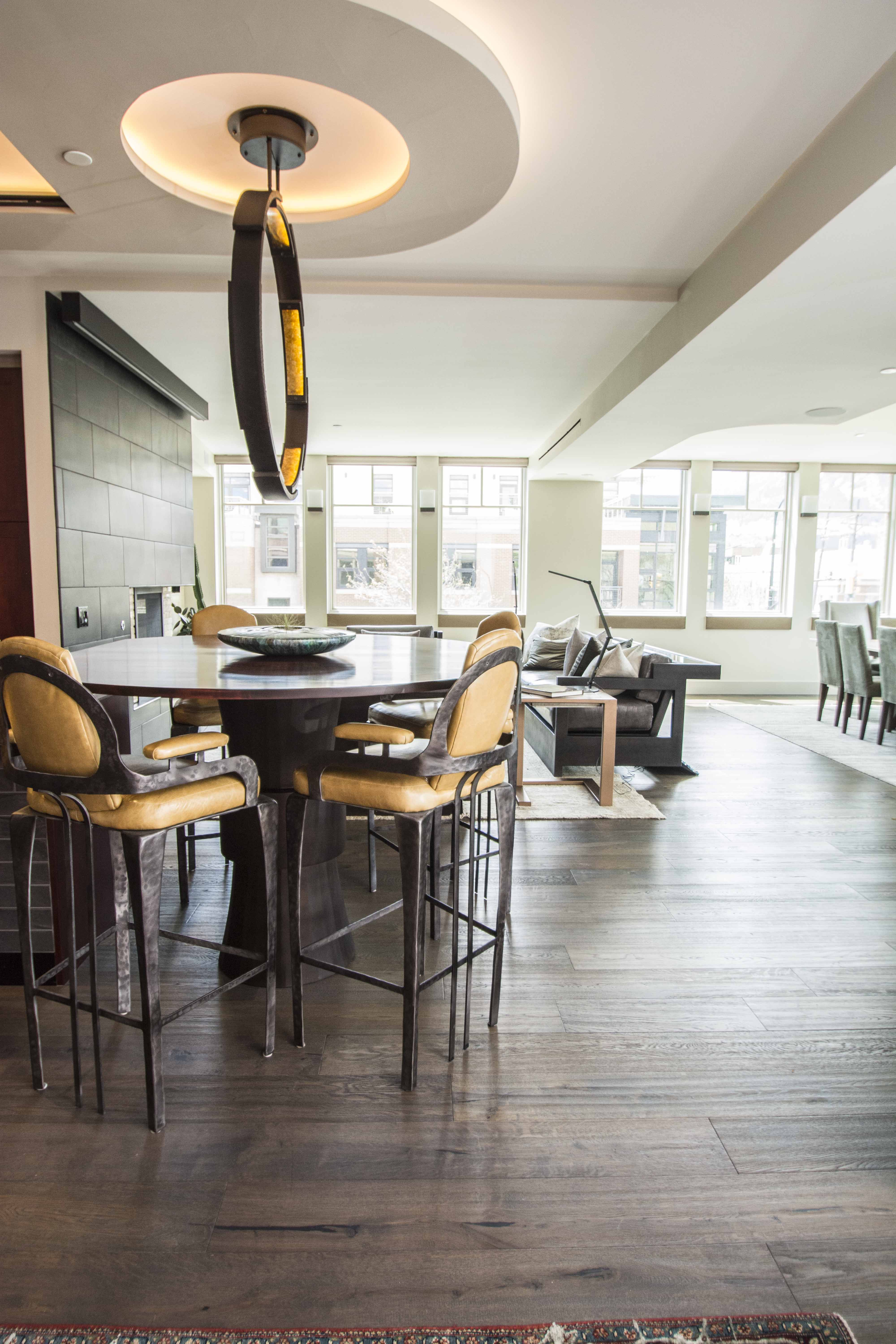 Kitchen Furniture Company: Custom Steel Kitchen Table & Chairs. By Vilona Furniture