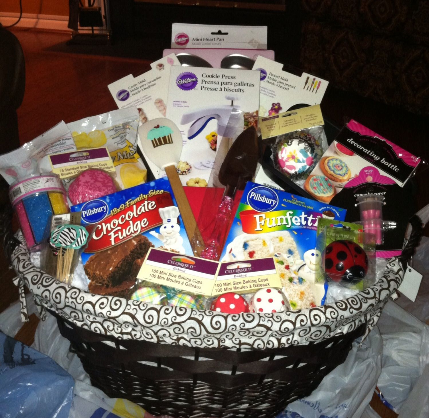 All things baking gift basket for a bridetobe makes