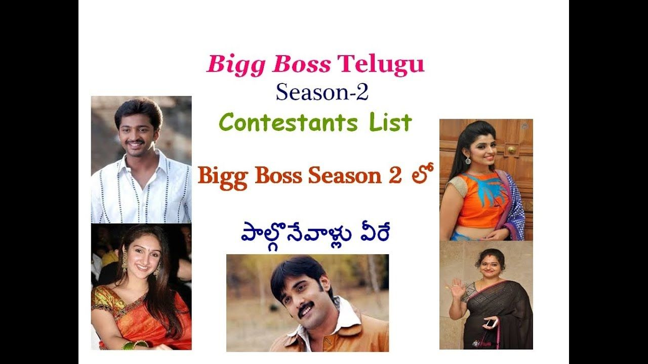Bigg Boss Telugu Season 2 Contestants | Bigg Boss 2 Telugu