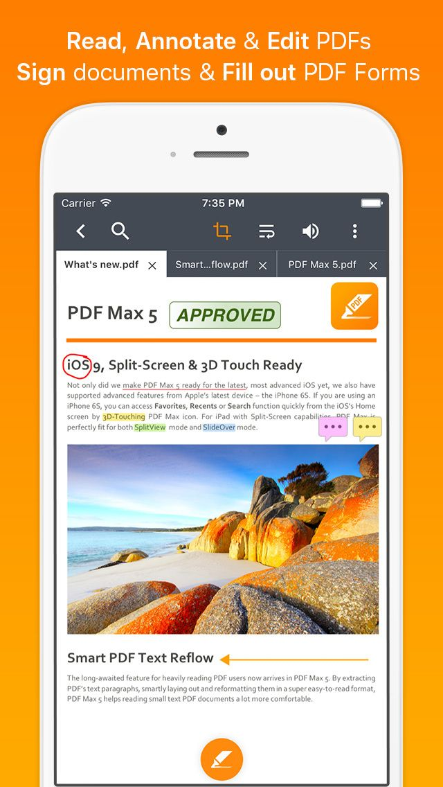 SAVE 4.99 PDF Max 5 Pro Fill forms edit & annotate